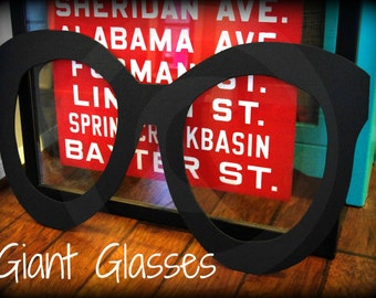 Giant Wood Glasses decor- Wood Glasses-  Little Man- Little Man Party- Mustache party- Mustache decorations
