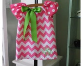 Ready to Ship 18M, Easter Chevron dress, peasant dress, Easter monogram dress, baby chevron, toddler Mudan 3m-7/8 matching brother sister