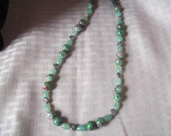 Ruby Zoisite Beadwork Necklace