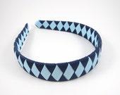 Blue Headband - Navy Headband - Light Blue Headband - Light and Dark Blue Headband - Woven Braided Headband - Toddler Teen Adult Headband