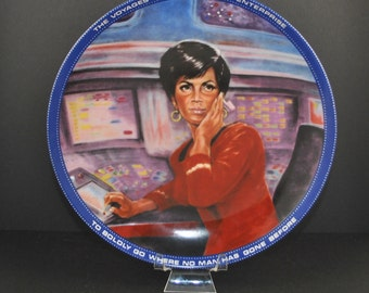 Vintage 1983 Mr. Lt. Uhura Communications Officer Plate 0870b - Hamilton Collection - Susie Morton - Limited Edition - Ernst - Star Trek