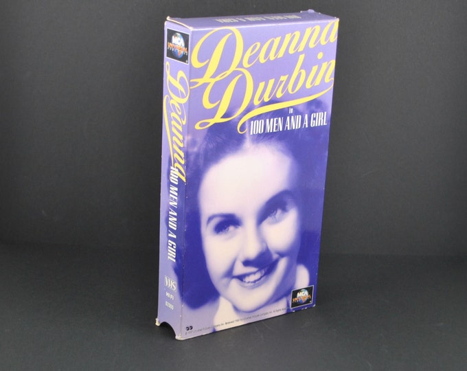 Vintage 100 Men And A Girl VHS Tape - 1937 Remake - Deanna Durbin & Leopold Stokowski - Movie - MGM - Musical - Dancing - VCR - Collectible