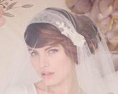 Juliet Cap Veil, Wedding Bridal Veil, Bridal Veil, Tulle Veil, English Net Veil, The Sylvia Bridal Cap Veil #153