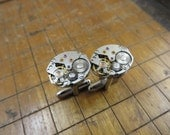 Seiko 11A Watch Movement Cufflinks. Great for Fathers Day, Anniversary, Groomsmen or Just Because.  #242