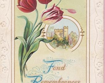 "Ca. 1909 ""Fond Remembrances"" Rare Sympathy Postcard - 1443"