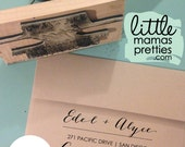 LARGE Calligraphy Return Address Stamp: 3x5 Inch