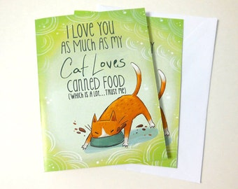 cat card, funny cat card, anniversary card