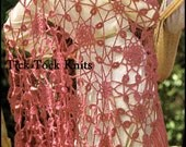 No.383 Women's Crochet Pattern 1970's Vintage PDF - Lover's Knot Shawl - Lace Motif Shawl Pattern - Retro Crochet Pattern