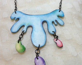 Blue Splat Necklace