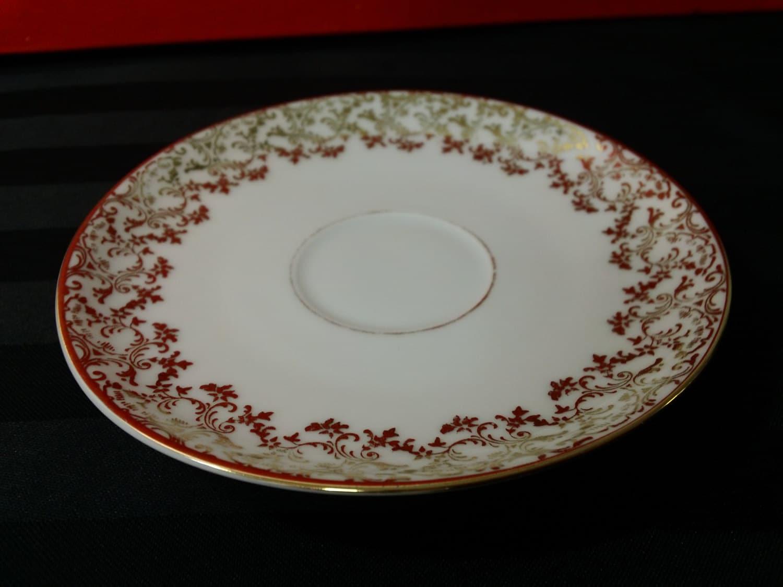 vintage hutschenreuther porcelain china saucer with. Black Bedroom Furniture Sets. Home Design Ideas