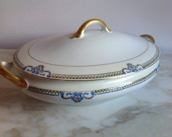 Covered Oval Serving Bowl Large Noritake Beaumont 69534