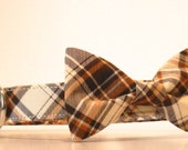 Plaid Bow Tie Dog Collar Fall Winter Made to Order