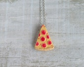 Pizza Necklace Food Jewelry
