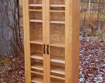 All Natural Cherry Pantry with Adjustable Shelves