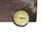 Vintage Pressure Gauge - 160 psi Industrial Steel & Brass Gauge - U.S. Gauge - Made in U.S.A.