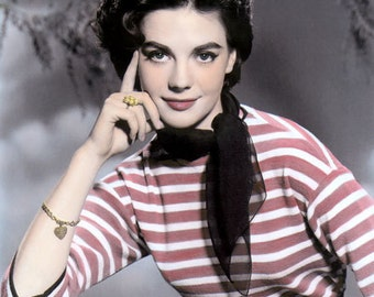 """Natalie Wood Hollywood Movie Star Actress 8x10"""" Hand Color Tinted Photograph"""