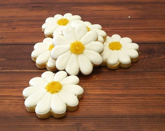 Decorated Cookies - Daisies - 1 dozen