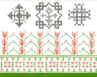 EMBROIDERY PATTERN BOOK for Table and Bed Linen Towels etc 182 pages Download
