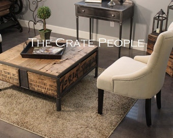 The 36 ZORIA Farms Coffee Table - Custom Crate Furniture - 100+ yr old Barn Wood