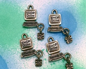 Shop Online Computer - 4 pieces-(Antique Pewter Silver Finish)