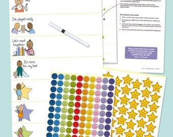 Kid's Reward Chart - My Big Star Reward Chart (2 Year +) Award Winning Chart  Manage Difficult Toddler Behaviors with Positive Reinforcement