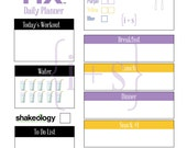 21 Day Fix Printable Meal Workout Planner 1200 Calorie Bracket