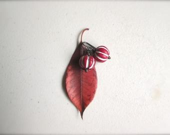 Red White Striped Earrings by Nancelpancel on Etsy