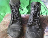 90s Ultimate grunge vintage lace up ankle boots 36 5.5 6