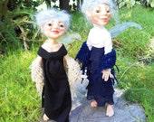 Garden Nymphs Madeline & Katalina HANDMADE Sprite Faerie Fairy Doll