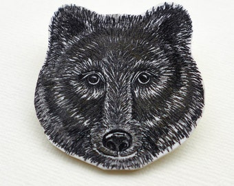 Bear Brooch, bear badge