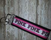 Bling VS Pink  Wristlet Keychain