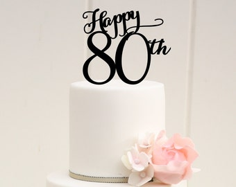 80Th Birthday Cake Toppers My blog