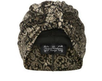 Scarlett Brocade Turban in Gold and Black