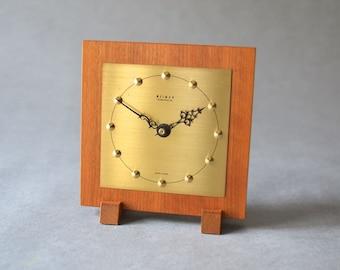 Vintage desk clock table clock brass Weimar GDR East German