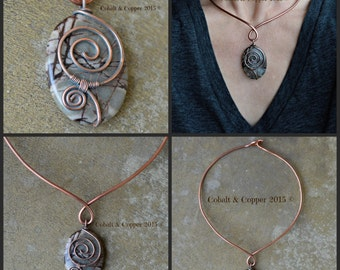 Outback Jasper Wire-Wrapped Choker