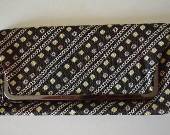 Vintage Japanese shibori silk clutch purse