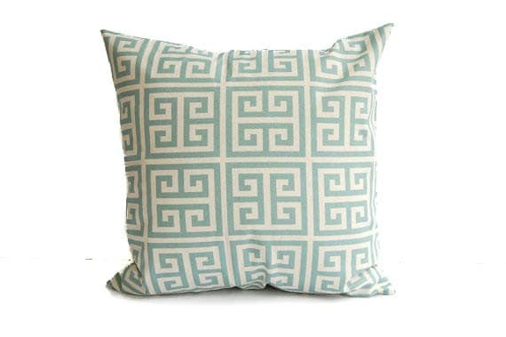 Blue throw pillow cover one 20 x 20 light by ThePillowPeople