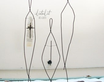 Embrace Diverstity Wire Sculpture Rustic Metal and Driftwood Mixed Media Art Global Art We are all One