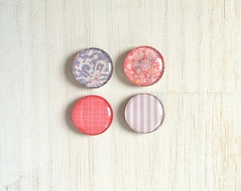 "Magnets: Magnet Set, 1"" magnets, Kids, Stocking Stuffer, Pink, Purple, Geometric, Tribal, Gift, Unique, For Him, For Her, Wedding, Birthday"