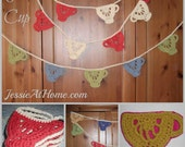 Tea Cup Applique/ Bunting Crochet Pattern