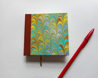 """Small Hand-made blank book: """"Green Arches"""".  Diary or Travel Journal. Pocket sized writing for fun."""