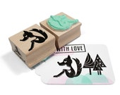 Wolf stamp with mint rubber