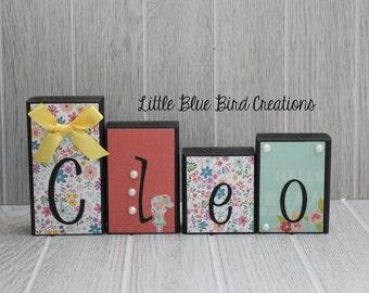 Personalized Children's Name Wooden Blocks-Home Decor, Nursery, Bedroom