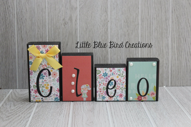 Personalized Children's Name Wooden Blocks-Home Decor