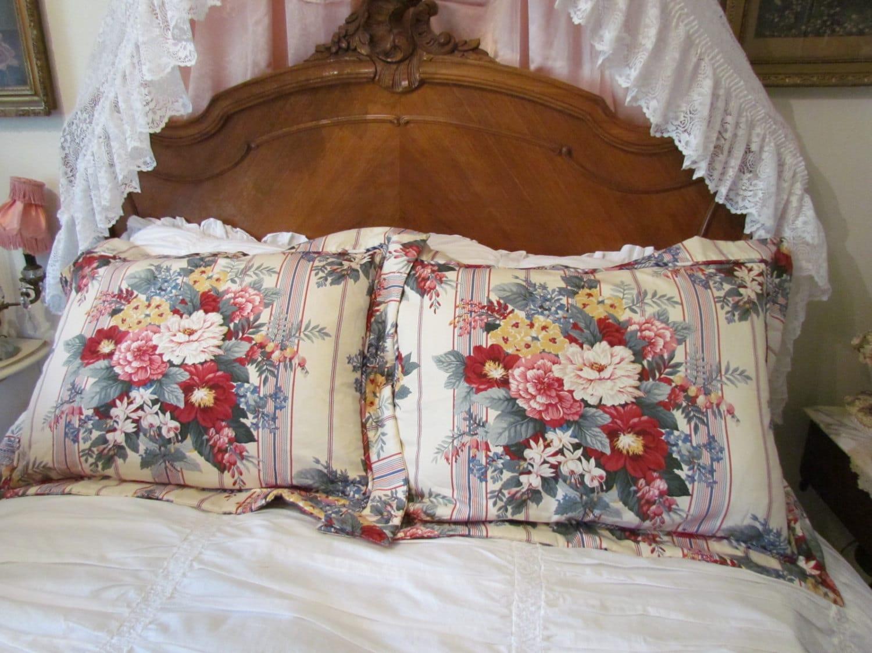 Cottage Floral Pillow Sham Pair