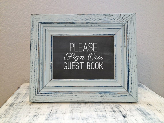 INSTANT PRINTABLE - 8x10 Wedding Guest Book sign - printable sign Please Sign Our Guest Book - DIY printable