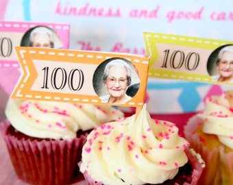 Birthday Milestone Personalized Cupcake Toppers - PRINTABLE