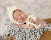 Baby Bonnet, Newborn Baby Bonnet, Newborn Photo Prop, Bonnet Baby, Baby Boy Knit Hat, Baby Girl Knit Hat, Baby Gift, Classic Baby Bonnet