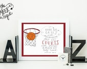 INSTANT DOWNLOAD, Basketball Sports Scripture Printable, Psalm 100:4, No. 281