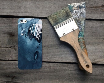 Blue Watercolour iPhone 6 case, art phone cover, mobile accessories gift for him
